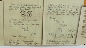 "The exhibit, ""War Diaries – Testimonies and Journals about Life"", is now open"