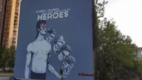 World's largest David Bowie mural unveiled in Sarajevo