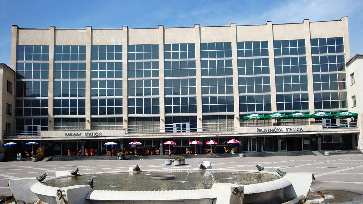 Railway Station Destination Sarajevo