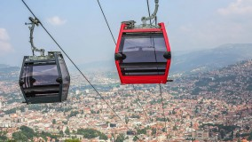 Summer operating times for the Sarajevo cable car