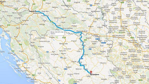 By Car Destination Sarajevo